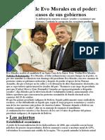 Luces y Sombras de Evo Morales
