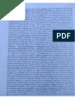 Carta juramentada de los integrantes del Consejo Directivo de la CAS