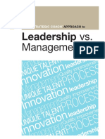 The Strategic Coach Approach to Leadership vs Management