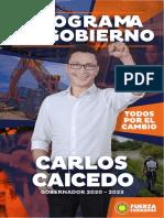 Plan de Gobierno Carlos Caicedo