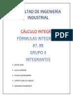Ejercicios Con Las Formulas 7 y 8 de Integracion