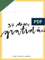 30 dias de gratidão