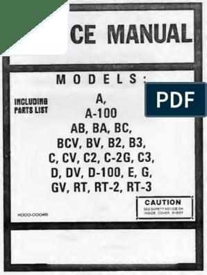 Hammond Service Manual a a-100 BA BC BCV BV B2 B3 C CV C2 C2 ... on