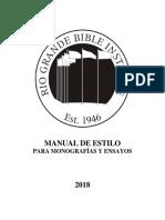Manual de Estilo para Monografías y Ensayos