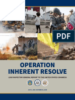 Operation Inherent Resolve Lead Inspector General Report To The United States Congress (July-October 2019)