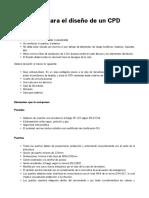 Requisitos Para El Diseño de Un CPD