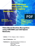Emotion recognition using CNN and RNN