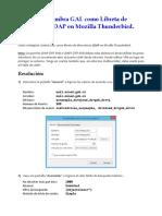 Configure Zimbra GAL as LDAP Addressbook in Thunderbird