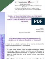 Presentacion Quinta Republica