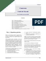 Cameroun - Code Du Travail