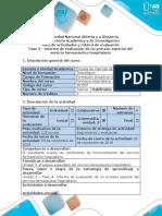 Guia de Actividades y Rubrica de Evaluacion - Fase 4 - Informe de Evaluación de Un Proceso Especial Del Servicio Farmacéutico Hospitalario