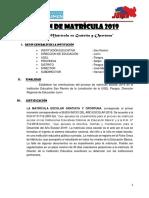 Plan de Matricula 2019