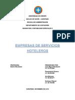 Trabajo de Empresas de Servicios Hoteleros Completo