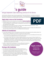 Michigan Redistricting Commission citizens guide