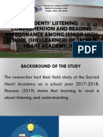 Students' Listening Comprehension and Reading Performance Among [Autosaved]