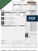 Blank Pathfinder RPG Character Sheet