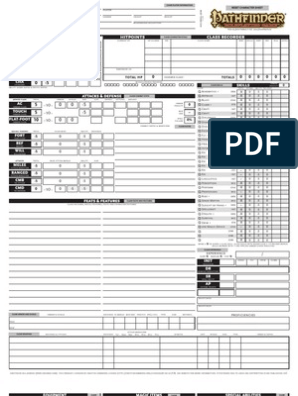 picture relating to Printable Pathfinder Character Sheet named Blank Pathfinder RPG Personality Sheet Amusement Actions