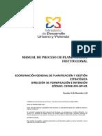 Manual Gestión de Planificación - Miduvi