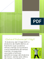 Diapositivas Del Sindrome x Fragil