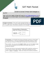 SAT Math Packet