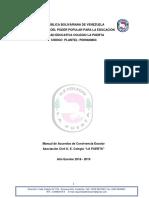 MANUAL de CONVIVENCIA 2018-2019