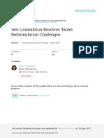 Wet Granulation Resolves Tablet Reformulation Challenges.pdf