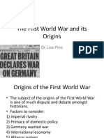 The First World War and Its Origins