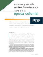 Cocina, Despensa y Comida en Los Conventos Franciscanos de Querétaro en La Época Colonial - Adriana Guerrero Ferrer