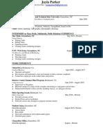 Jayla's NCAT Resume