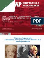 Semana 1 - Orígenes, Antecedentes, Inicio y Estructuración Definitiva de La Psicología Científica