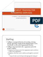 Management Training for Integrated Services Course 5