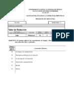 UNAM - PROGRAMA DE ASIGNATURA - Taller de Redacción