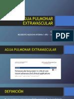 Agua Pulmonar Extravascular