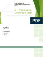 SGBD - Visão Geral, Usuários e Tipos