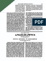 0791-0791, Angelramus Metensis Episcopus, Vita Operaque [Ex Gall Christ], MLT