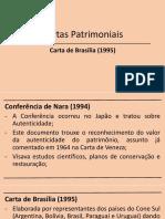 SLIDES SOBRE A CARTA DE BRASILIA 1995