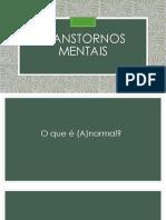 Transtornos mentais 2019