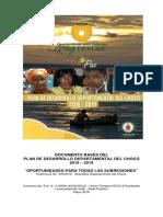 Plan de Desarrollo Departamental Del Choco 2016 2019