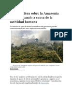 La Atmósfera Sobre La Amazonía Se Está Secando a Causa de La Actividad Humana