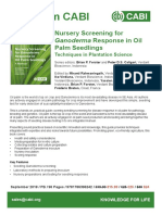 Nursery Screening for Ganoderma Response