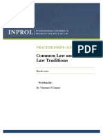 Common and Civil Law Traditions