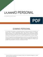 DOMINIO PERSONAL.teoria de Sistema
