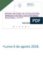 Semana Nacional de Actualización agosto 2018.