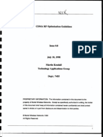CDMA RF Optimization Guidelines