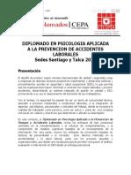 Diploma Prev Acc Laborales Programa