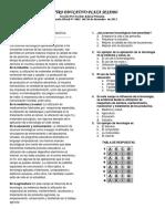 Examen de Informatica Cuarto Periodo, Grado Segundo