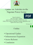 Update on Activities in the Nigerian Power Sector