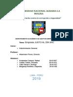 Justo Al Dia SAC - Trabajo Final Administración (1)