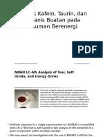 Analisis Kafein, Taurin, Dan Pemanis Buatan