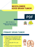 Temozolomide In Childhood Brain Tumor